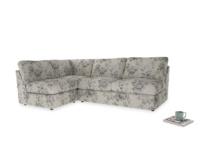 Large left hand Chatnap modular corner storage sofa in Dusty Blue vintage rose