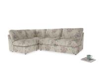 Large left hand Chatnap modular corner storage sofa in Pink vintage rose
