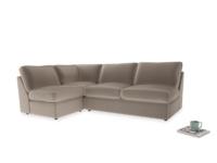 Large left hand Chatnap modular corner storage sofa in Fawn clever velvet
