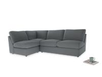 Large left hand Chatnap modular corner storage sofa in Dusk vintage linen