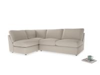 Large left hand Chatnap modular corner storage sofa in Buff brushed cotton