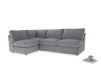 Large left hand Chatnap modular corner storage sofa in Dove grey wool