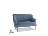 Small Sweetie Sofa in Nordic blue brushed cotton