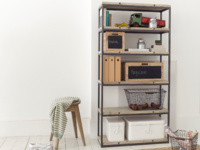 Beautiful British made High Five wooden shelving unit