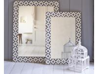 Bone inlay Banyan monochrome handmade wall mirrors