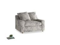Cloud love seat sofa bed in Dusty Blue vintage rose