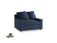 Cloud love seat sofa bed in Navy blue brushed cotton
