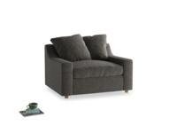 Cloud love seat sofa bed in Shadow Grey wool