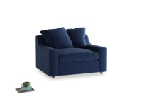 Cloud love seat sofa bed in Ink Blue wool