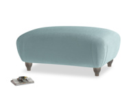Rectangle Homebody Footstool in Lagoon clever velvet