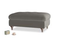 Rectangle Jammy Dodger Footstool in Slate clever velvet