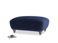 Rectangle Homebody Footstool in Midnight plush velvet