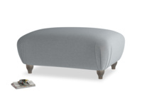 Rectangle Homebody Footstool in Dusk vintage linen
