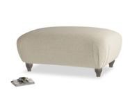 Rectangle Homebody Footstool in Jute vintage linen