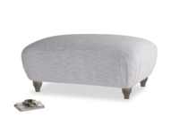 Rectangle Homebody Footstool in Pebble vintage linen