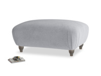 Rectangle Homebody Footstool in Dove grey wool
