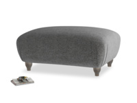 Rectangle Homebody Footstool in Shadow Grey wool