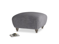 Small square footstool Homebody Footstool in Lead cotton mix