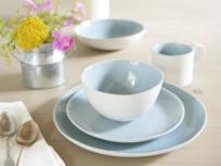 Blue and white Kilny dinnerware set