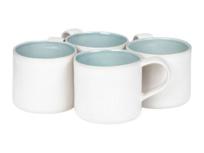 Beautiful blue and white dinnerware Kilny mugs