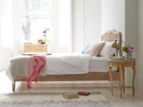 French style Margot rattan bed in raw oak