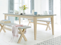 Gorgeous Conker concrete kitchen table with a lightweight tough resin top