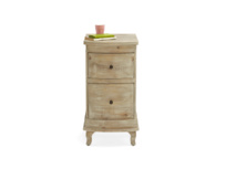 Handmade Bastille bedside table with two drawers useful for storage