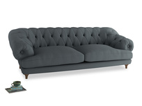 Extra large Bagsie Sofa in Meteor grey clever linen