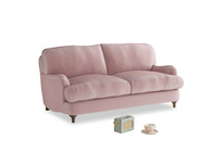 Small Jonesy Sofa in Chalky Pink vintage velvet