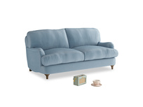 Small Jonesy Sofa in Chalky blue vintage velvet