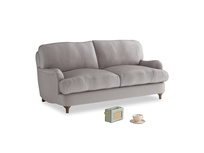 Small Jonesy Sofa in Soothing grey vintage velvet