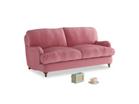 Small Jonesy Sofa in Blushed pink vintage velvet