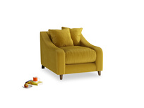 Oscar Armchair in Burnt yellow vintage velvet