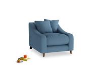 Oscar Armchair in Easy blue clever linen