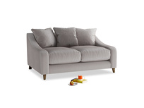 Small Oscar Sofa in Soothing grey vintage velvet