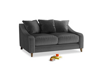 Small Oscar Sofa in Scuttle grey vintage velvet