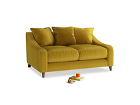 Small Oscar Sofa in Burnt yellow vintage velvet