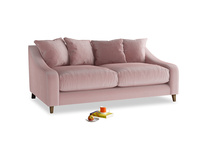 Medium Oscar Sofa in Chalky Pink vintage velvet