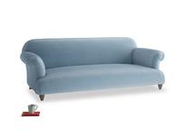 Large Soufflé Sofa in Chalky blue vintage velvet
