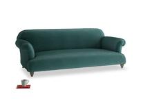 Large Soufflé Sofa in Timeless teal vintage velvet