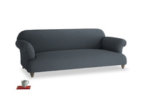 Large Soufflé Sofa in Lava grey clever linen