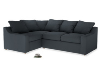 Large Left Hand Cloud Corner Sofa in Lava grey clever linen