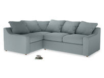 Large Left Hand Cloud Corner Sofa in Quail's egg clever linen