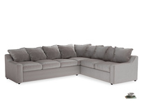 Xl Right Hand Cloud Corner Sofa in Soothing grey vintage velvet