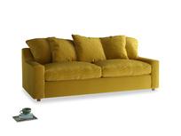 Large Cloud Sofa in Burnt yellow vintage velvet
