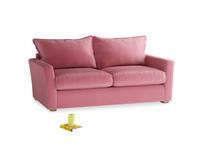 Medium Pavilion Sofa Bed in Blushed pink vintage velvet