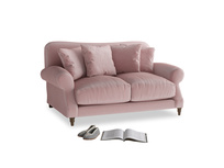 Small Crumpet Sofa in Chalky Pink vintage velvet