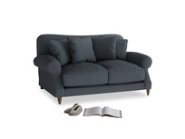 Small Crumpet Sofa in Lava grey clever linen