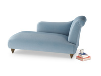 Right Hand Brontë Chaise Longue in Chalky blue vintage velvet