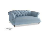 Small Dixie Sofa in Chalky blue vintage velvet